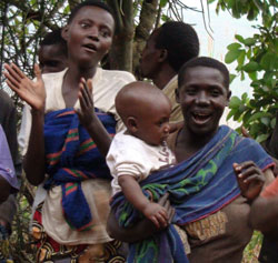 Batwa people traditional singing and dancing